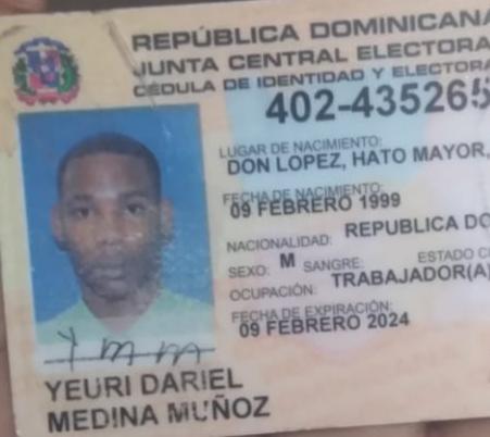 Joven oriundo de Hato Mayor es asesinado de un disparo en el pecho en Consuelo