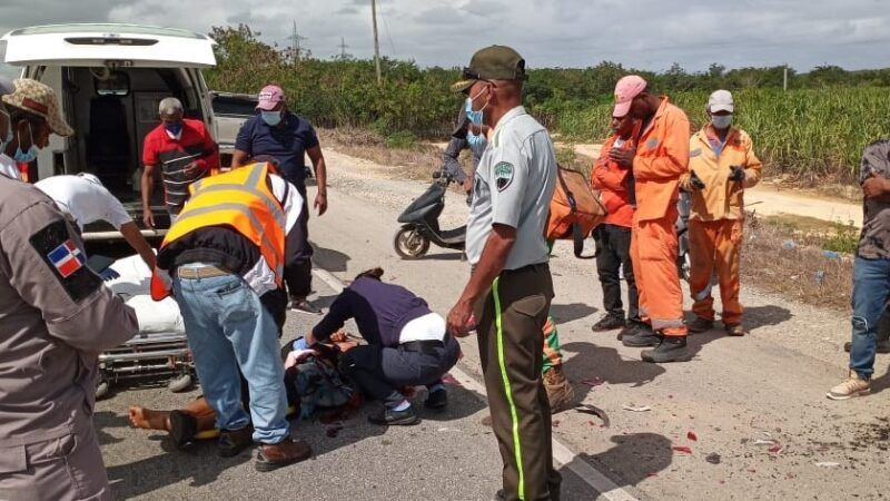 Joven resulta herido en accidente de transito en S.P.M