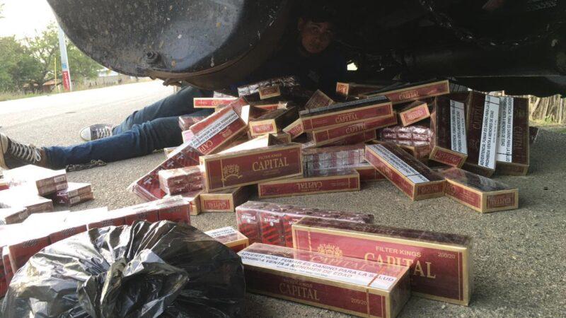 Detienen contrabando de cigarrillos en Montecristi
