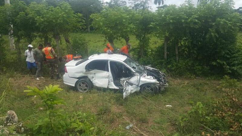 Muere Kency en accidente de tránsito en la carretera Bávaro-Miches