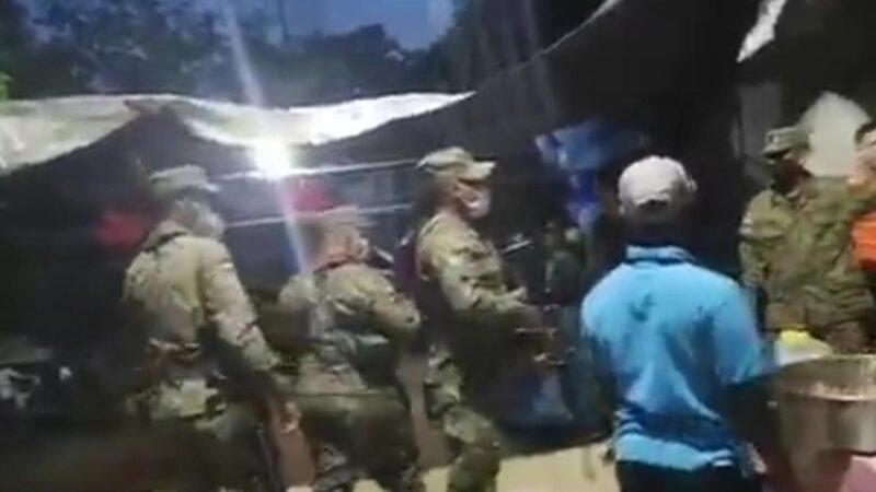 (VIDEO) Ejercito desbarata cumpleaños en horario del toque de queda en San Pedro de Macorís
