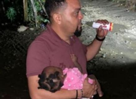 Encuentran niña sana y salva raptada por padrastro en Montecristi para llevarla hacia Haití