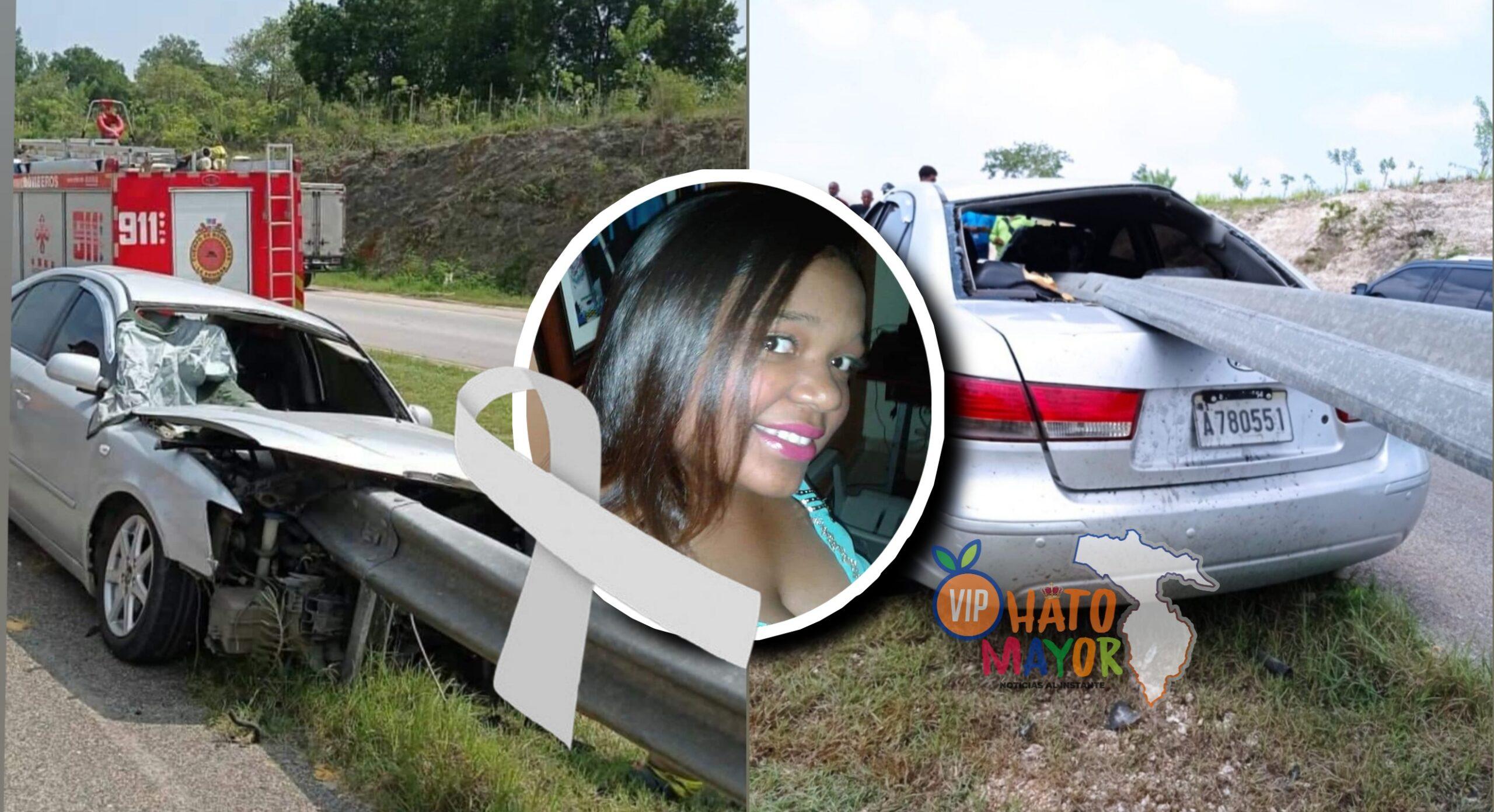 Trágico accidente de tránsito deja una mujer muerta en la Autovía del Coral en La Romana